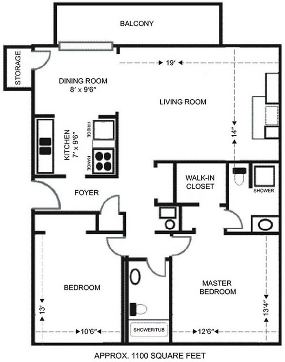 Heritage ridge apartments 1 2 bedrooms in manhattan ks for 2 bedroom studio apartment plans